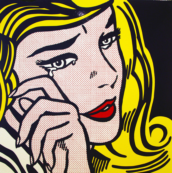 "I like this Lichtenstein, ""Crying Girl, 1954""."