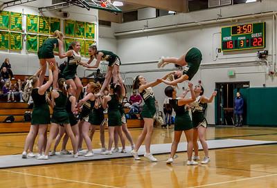 Set three: VIHS Winter Cheer at Girls Basketball v Cascade Christian 01/15/2019