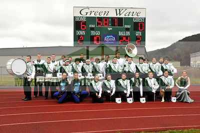NEW MILFORD HIGH SCHOOL MARCHING BAND, Thanksgiving Football Game, November 26, 2009