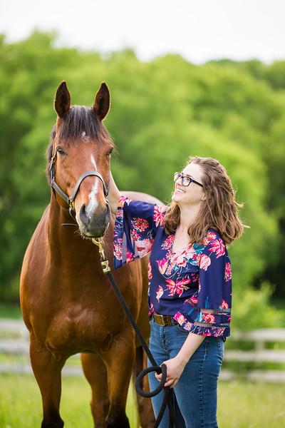 Rachael and Dr. Watson- Equine