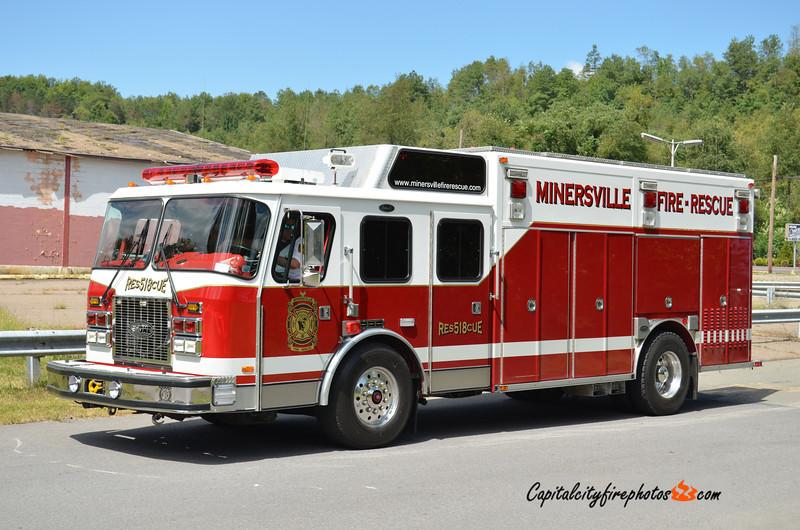Minersville (Minersville Fire Rescue) Rescue 518: 1993 E-One (X-Newark, DE)