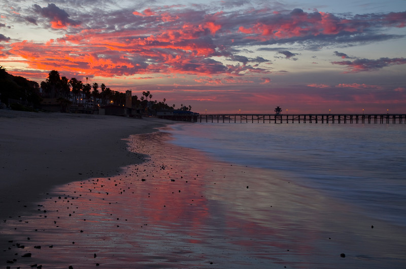 Sunrise at San Clemente, California