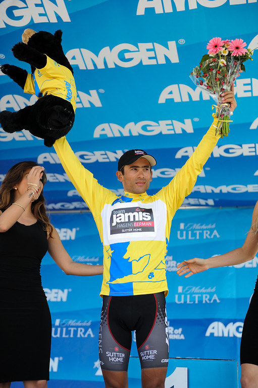 . Colombian Janier Acevedo is the overall leader after Stage 4 of the Amgen Tour of California, Wednesday, May 15, 2013. (Michael Owen Baker/Staff Photographer)