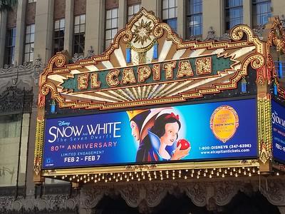 El Capitan Theatre - Snow White and the Seven Dwarfs (2018)