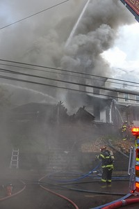 Stowe Township structure fire Island Avenue