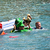 The Annual RAOB Cardboard Boat Race at Ocean Village Gibraltar.  Date: 23rd August 2014