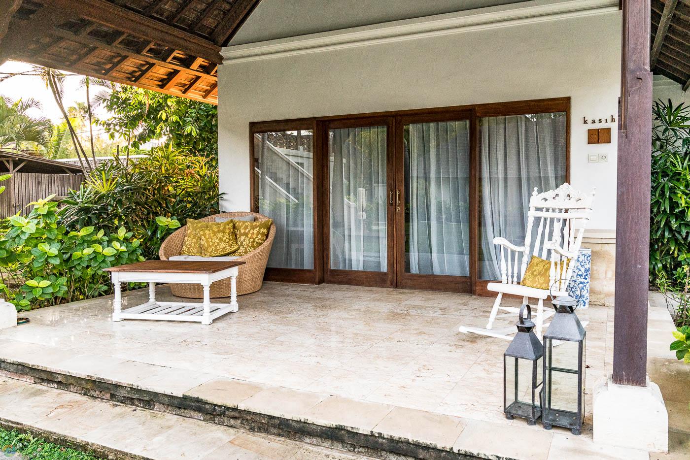 Porch of your private villa.