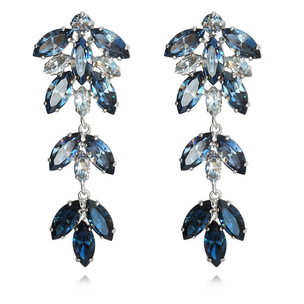 Nyx Earrings / Denim Blue + Blue Shade / Rhodium