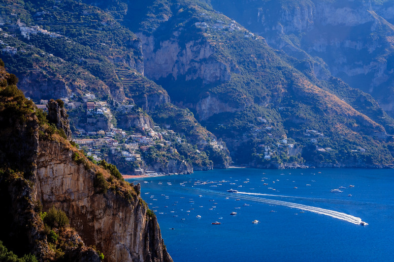 Positano, just around the next bend.