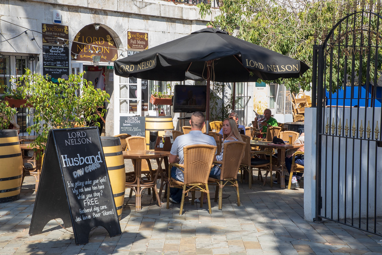 Lord Nelson Gibraltar Pub on Casements Square
