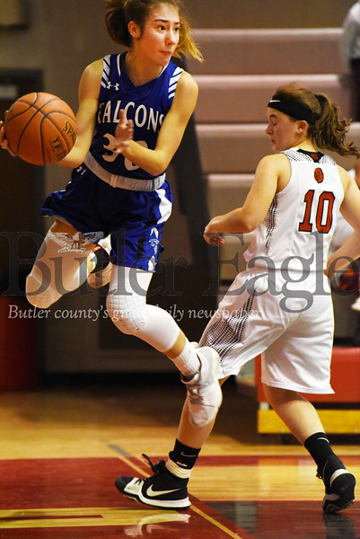 Harold Aughton/Butler Eagle: A.C. Valley's Baylee Blauser, #30, makes a save in the first quarter.