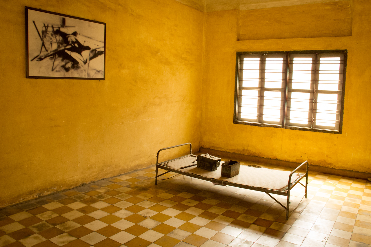 Khmer Rouge Torture Room at S21 Prison in Phnom Penh