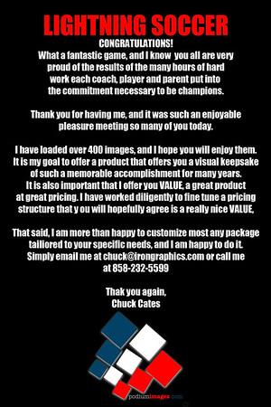 Lightning Soccer - Clorox Cup Sun Oct 21