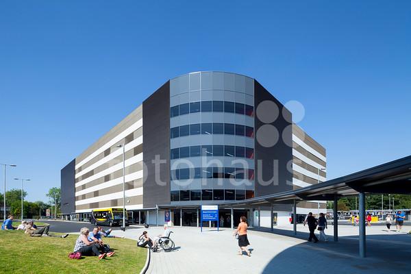 Blackpool Victoria Hospital - entrance and car park