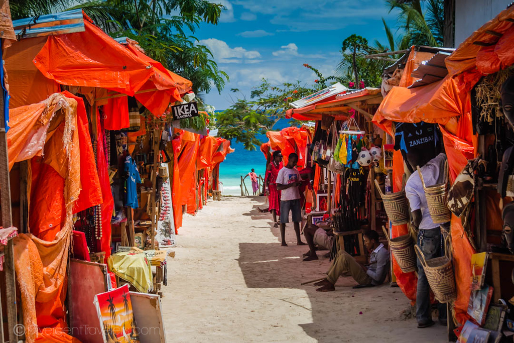 Beach markets in Zanzibar