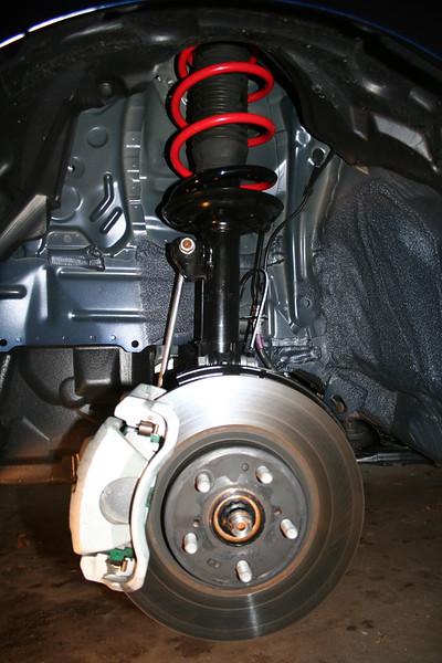 Front suspension RE-reinstalled