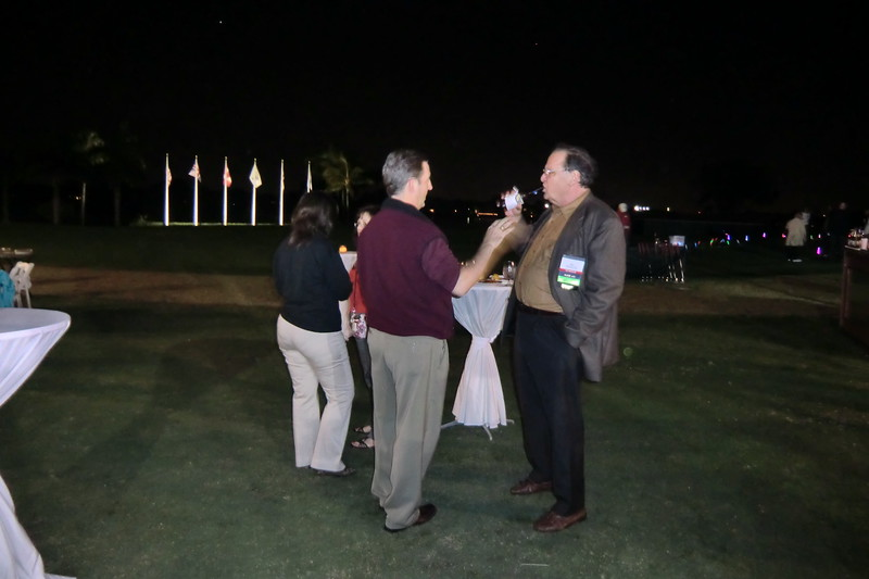 Past President's Nick Lioce and John Akard at the Welcome Reception & Night Golf