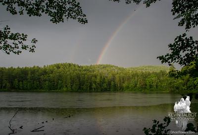 Rainbow at Hatch Pond 8-5-17