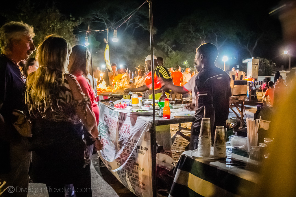 Night food Market in Stone Town, Zanzibar
