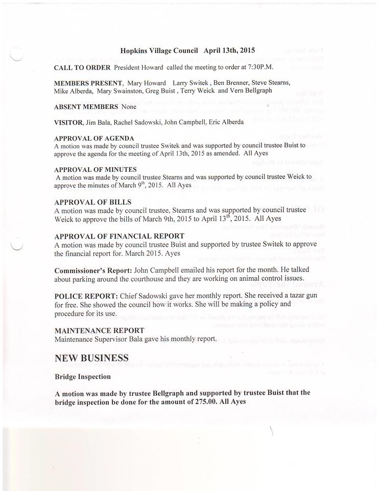 April 2015 Meeting Minutes pg 1