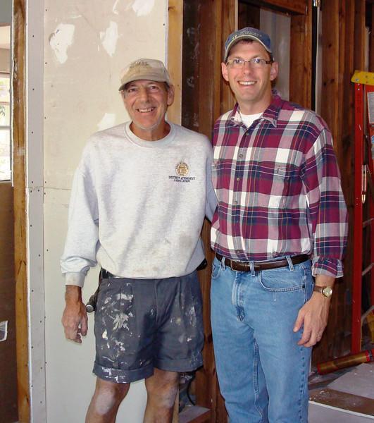 08 11/08 - Construction Manager Al Newkirk with Kirk Lyman-Barner. kl-b