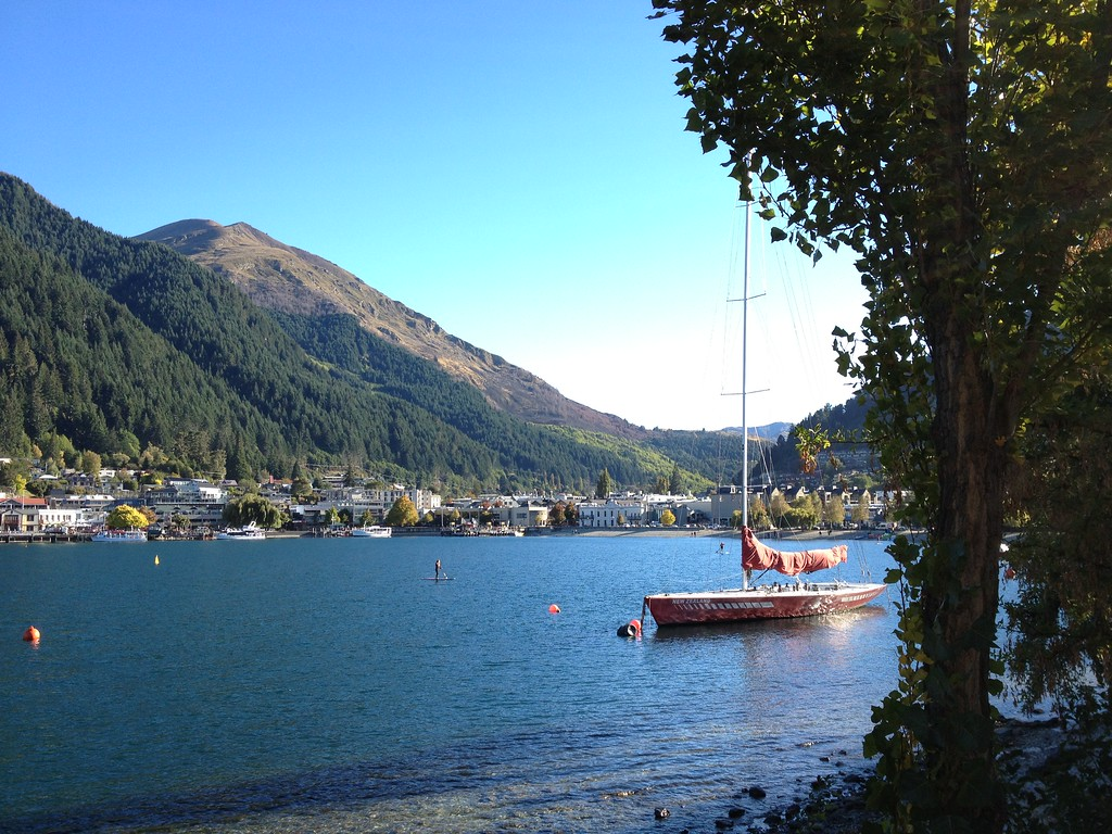 Taking a Walk Around the Lake in Queenstown