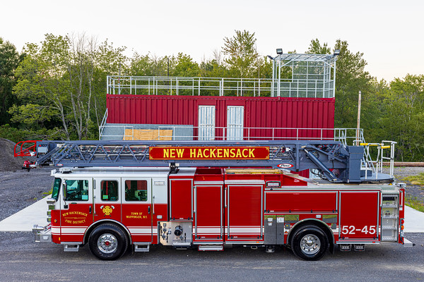 New Hackensack FD's 2020 107' Pierce Ascendant Ladder Truck 52-45