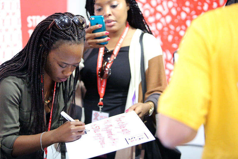 21st International AIDS Conference (AIDS 2016), Durban, South Africa. Monday 18th July 2016, VENUE : Global Village IAS Stand in the Global Village Photo©International AIDS Society/Abhi Indrarajan