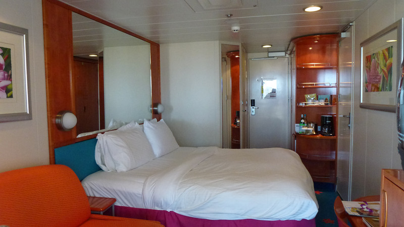 Our ship cabin looking in from the balcony.