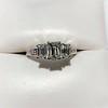 1.15ctw Emerald Cut Diamond Trilogy Ring 6