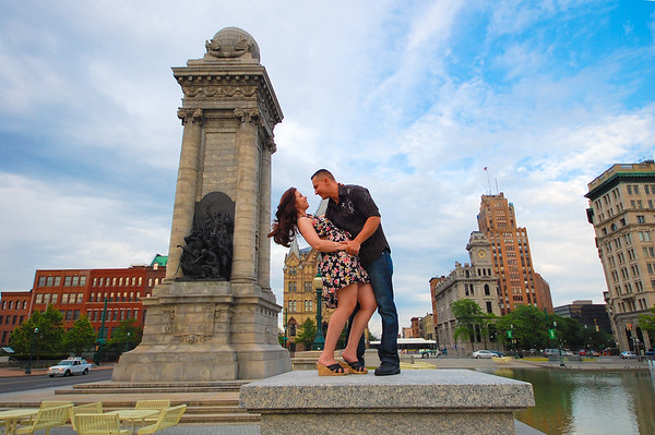 Engagement Photography in Clinton Square Downtown Syracuse NY (Part 2 of 3)