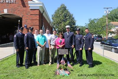 Engine 343 tree dedication in memory of Pete Martin