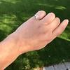 1.00ct Emerald Cut Diamond Solitaire, Platinum 12
