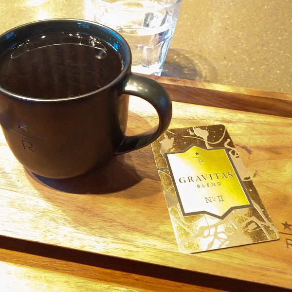 gasp, it's.. Starbucks. But it's from their Starbucks Reserve Roastery. Still overroasted.