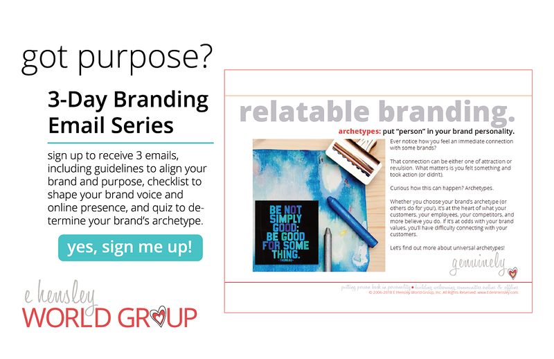Get raving fans. Jumpstart your brand personality by choosing an archetype that matches your purpose. 3-Day email series shows you how.