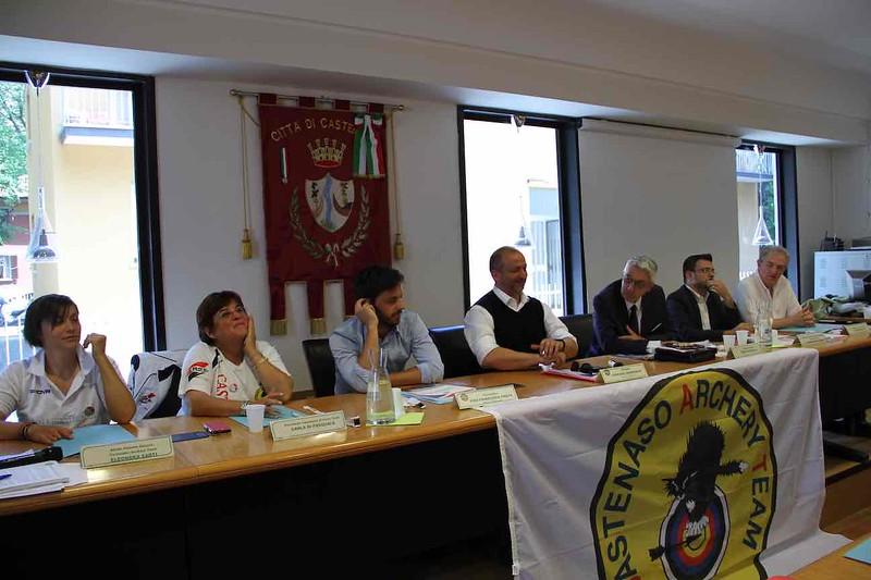 I relatori durante la conferenza stampa dei Tricolori Para-Archery di Castenaso_.JPG