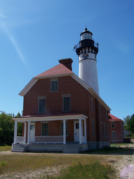 Au Sable Point Lighthouse and keepers' quarters