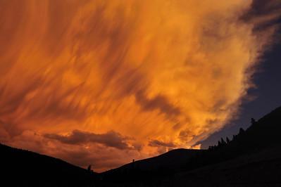 Storm at sunset in Cuchara Colorado