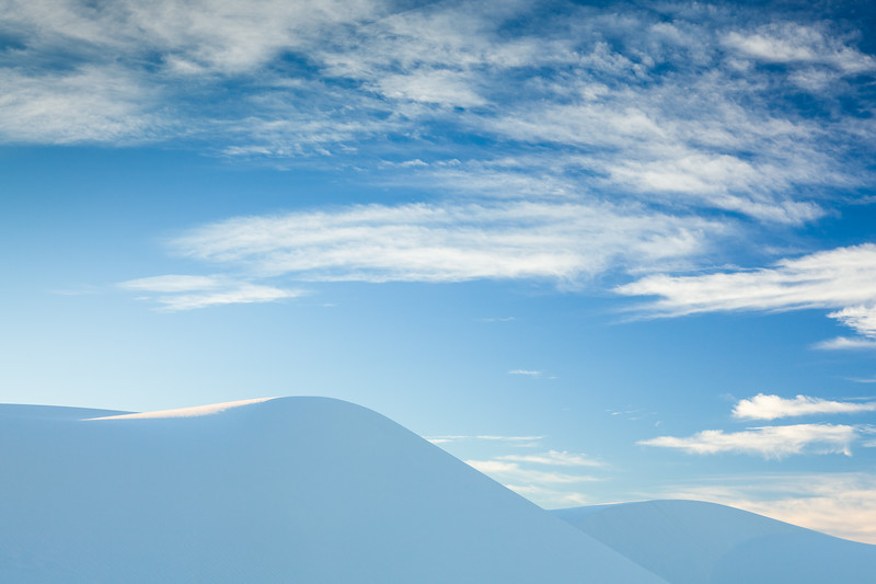 White Dunes Blue Sky