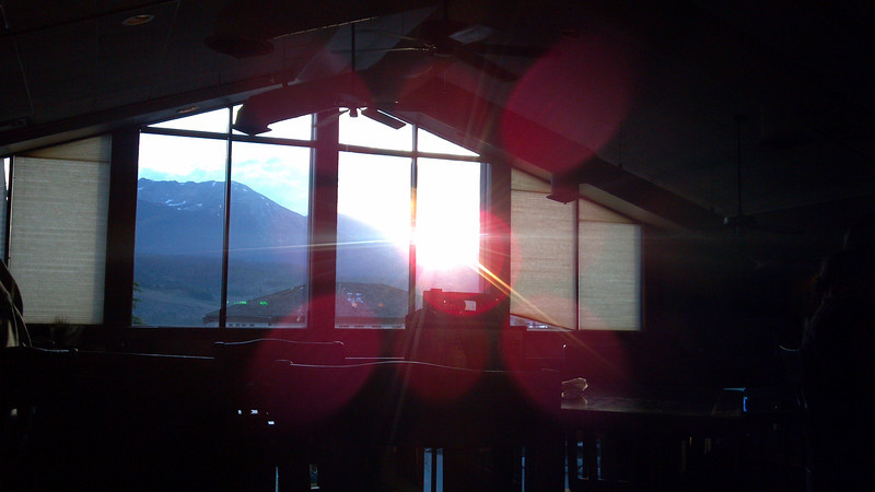 Sunset at Dillon Dam Brewery.
