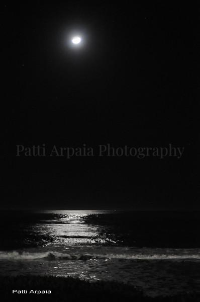 Moon over Malibu, CA