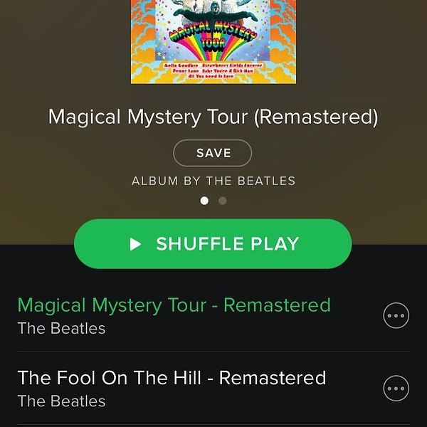 Totally psyched that the Beatles are now on @spotify (and 8 other streaming services) at 12:01 a.m. as promised!