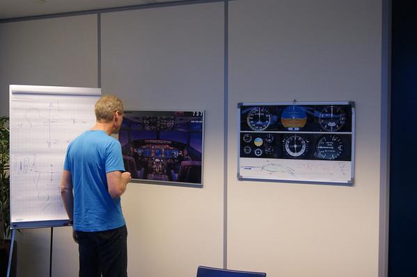 In de flight simulator
