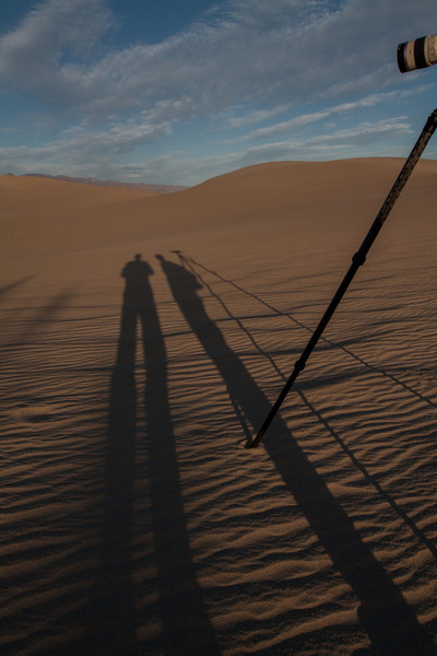 Bob & Tracy at Mesquite Flat Sand Dunes at sunset