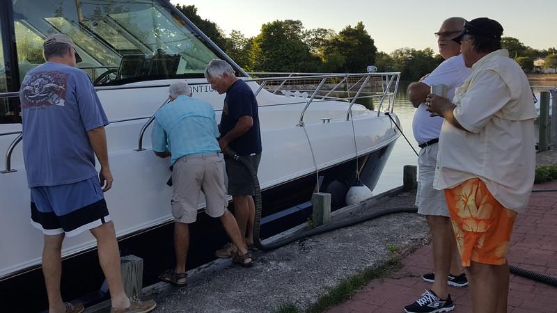 Our captains perform a self pump out