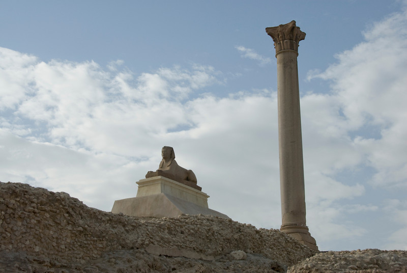 Pompey's Pillar in Alexandria, Egypt