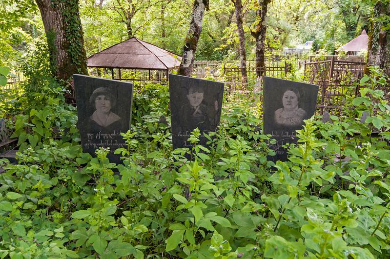 Barakoni Cemetery in Tsesi near Ambrolauri, Racha province, Georgia