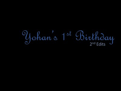 Yohan's 1st Birthday 2