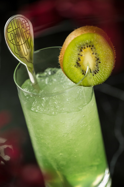 A signature cocktail is displayed at the China Rouge night club in the Galaxy Macau casino resort in Macau, China.