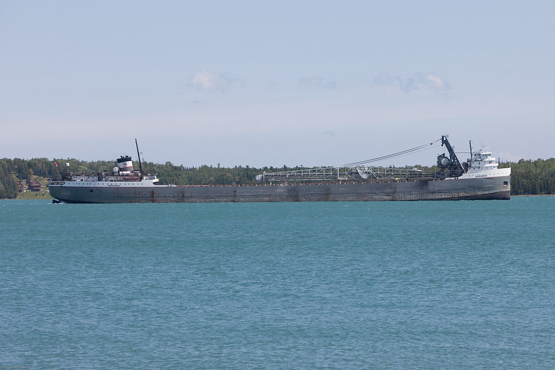 Freighter in the St Marys River